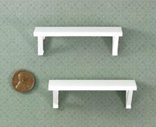 Dollhouse Miniature Set of 2 White Wall Shelves