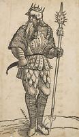 Manner, erster deutscher König. Könige u. Fürsten dt. Nation, 1543, Holzschnitt