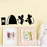 2x Mouse Hole Vinyl Mural Wall Art Sticker Decals Kids Nursery Room Home Decor