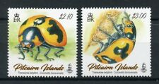 Pitcairn Islands 2017 neuf sans charnière transversal Coccinelle 2 V Set Ladybirds insectes timbres