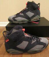 Nike Air Jordan 6 Retro PSG Paris Saint-Germain Size 11 Grey Black CK1229 001