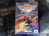 NFL Blitz 2000 (Nintendo 64) Instruction Manual Booklet Only... NO GAME