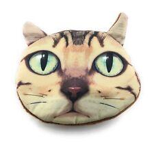 Lagiwa® Porte-monnaie Tête Animal CHAT A en tissu avec fermeture éclair + 1 KDO