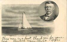 "Capt Lewis Risley, ""Emma R."", Boat House, 7th St & Pleasure, Ocean City NJ 1906"