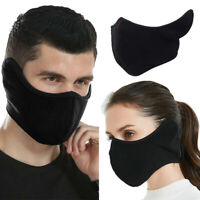 Winter Warm Fleece Earmuffs Riding Ski Snowboard Half Face Mask for Men Women US