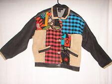 Vintage Carole Little Sport Coat Jacket Size L - Xl ~ Denim Fabric Designed