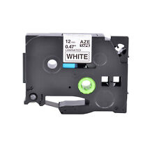 12mm Black On White Label Tape 047 For Brother P Touch Pt 200 Tze231 Tz231
