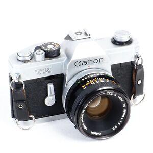 ^ Canon TX 35mm Film SLR Camera w/ FD 40mm f1.8 SC Lens [Works!]