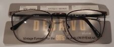 Vintage Deja Vu DV-822 Ant. Bronze 54/21 Metal Eyeglass Frame New/Old Stock #246