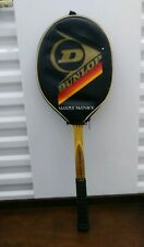 Vtg Dunlop Maxply McEnroe Wood Tennis Racket With Cover EUC 4 3/8 Rare