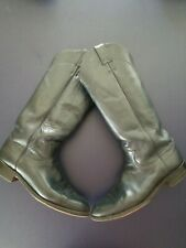 VTG BOOTS Women's 7 B Blue English Cowboy Justin leather tall riding boots