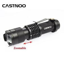 Castnoo SK68 6000 LM CREE Q5 Zoomable LED Flashlight MINI Police Torch Black GV