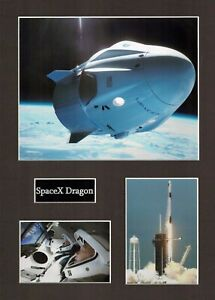 SPACEX Dragon 1 16 x 12 Photo Montage Display E, ISS Space EXPLORATION Falcon 9