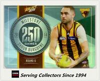 2015 AFL Champions Milestone Holofoil Card MG42 Shaun Burgoyne (Hawthorn)