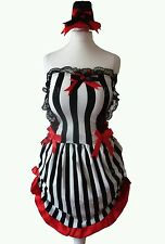 Sexy Burlesque/Saloon/Moulin Rouge Costume Costume/Vestito Halloween 8 NUOVI