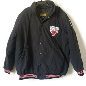 Vintage USA Made Chicago Bulls NBA Rick's Sport Wear Mens XL Snap Bomber Jacket