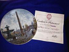 Henri d'Arceau La Place de la Concorde Plate with C.O.A. and Box #DZ 578