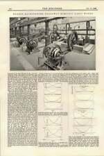1895 mordey ALTERNATORI GREAT Northern Railway Holloway funziona Luce Elettrica