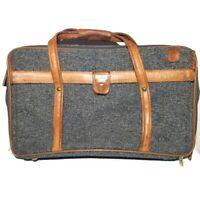 Vintage Hartmann Tweed Suitcase Bag Luggage Carry On Overnight Weekender