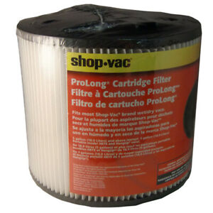 """Shop Vac 903-04 Cartridge Filters with Open Ends - 6"""" X 7-1/2"""" GENUINE"""