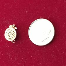 1 Piece Fire Mountain Gems H20-1982FN 14Kt Gold Filled Round w/ Flower Clasp 9mm