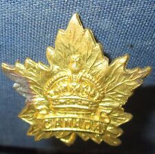 Collar Badge Canada WW2