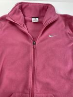NIKE PRO WOMENS ATHLETIC DRI-FIT THERMA FITTED Zip FUSCHIA Sz S #G4