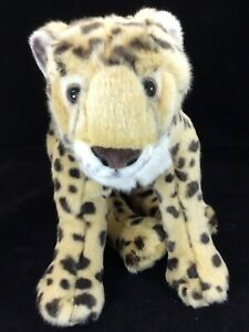 "FAO Schwarz Cheetah Leopard Plush Stuffed Animal Jungle Cat 2017 20"" Long Body"