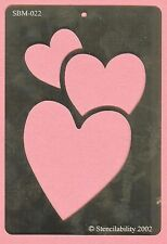 3 Hearts  Heart  love Steel Stencil  - NEW - card making , scrapbook