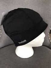 NWT REEBOK Womens Run Skully Beanie Hat OSFA Retail 25 BLACK