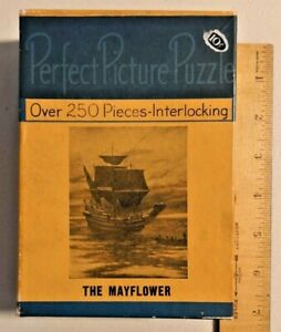 Vintage 1940s 250 Pieces Perfect Picture Puzzle from The Mayflower -- 2445