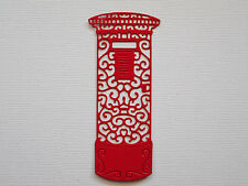 Postbox Mail Box Paper Die Cuts x 8 Christmas Travel Scrapbooking - Not a Die