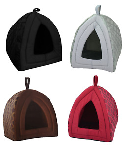 New Pet House Cave Fleece Padded Bedding Dog Puppy Cat Bed Igloo Warm Washable