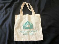 Canvas Tote Bag ANAVILHANAS Jungle Lodge Beach Travel Shopping Reusable