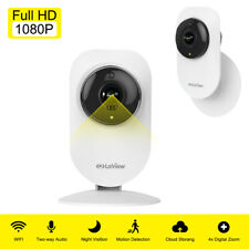 Wireless WiFi Security Camera 1080P HD 185° Ultra-Wide Angle Indoor Night Vision