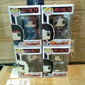 Motley Crue Pop! Set of 4 Funko Pop!