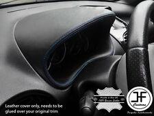Blue Stitch calibro speedo Cover in Pelle Cappuccio si adatta a Peugeot 206 206 CC 1998-2012