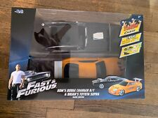 Fast and Furious Remote Control Car Two-Pack Charger R/T Toyota Supra RC Jada