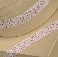 ROSE PINK COTTON LACE RIBBON 25mm x 10 METERS FULL REEL CRAFTS CAKE DRESSMAKING