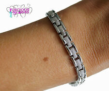 LADIES SUPER STRONG NEW MAGNETIC HEALING BRACELET SILVER ALLOY METAL PAIN RELIEF