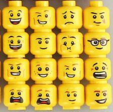 16 CUSTOM EMOJI PRINT YELLOW MINIFIGURE HEADS FITS LEGO TORSO NEW