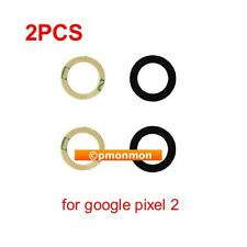 2 x Back Rear Camera Lens Cover REAL Glass w Adhesive Tape for Google Pixel 2