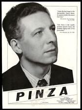1943 Ezio Pinza photo opera recital Usa tour trade booking ad