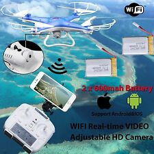 WIFI caméra drone FPV 2.4Ghz 4CH 6-Axis RC Quadcopter HD RTF Explorer 2 batterie