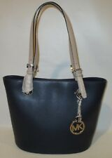 MICHAEL KORS Jet Set Item Navy Medium Leather Tote Shoulder Handbag   NEW
