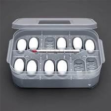Incubatrice incubatore uova rettili serpente lucertola geco 12 posti termometro