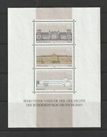 Stamps Germany 1986 Historic Buildings Reichstag B1466 1466 Block Souvenir MNH