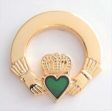 Ireland Claddagh Love & Friendship Ring Small Pin Badge - T1062