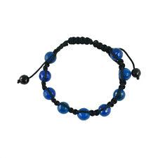 handmade macrame knitted royal Blue agate adjustable friendship bracelet