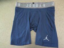 "Nike Mens Sz XL Jordan 8"" Compression Training Shorts 871998-419 Navy Blue $45"
